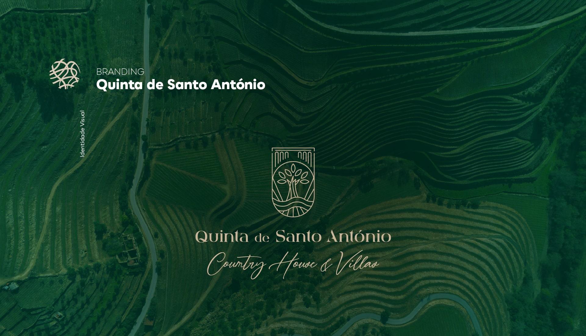 Logótipo principal do branding da Quinta de Santo António