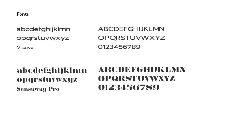 Fontes usadas no Branding da Quinta de Santo António