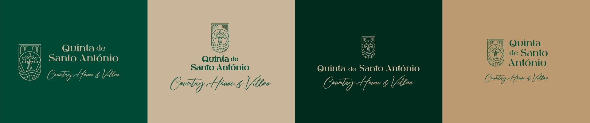 Comportamento do logótipo da Quinta de Santo António