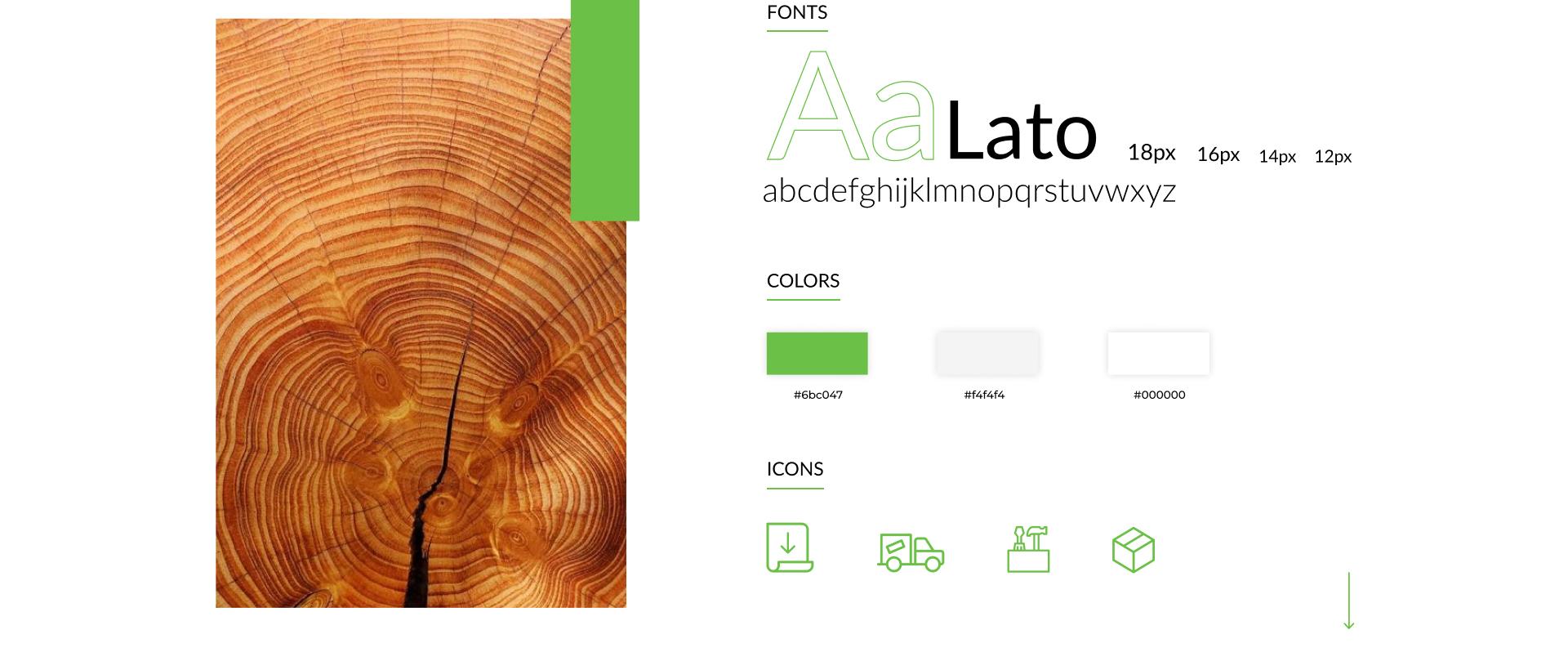 Escala de cores usada em Carmo Wood