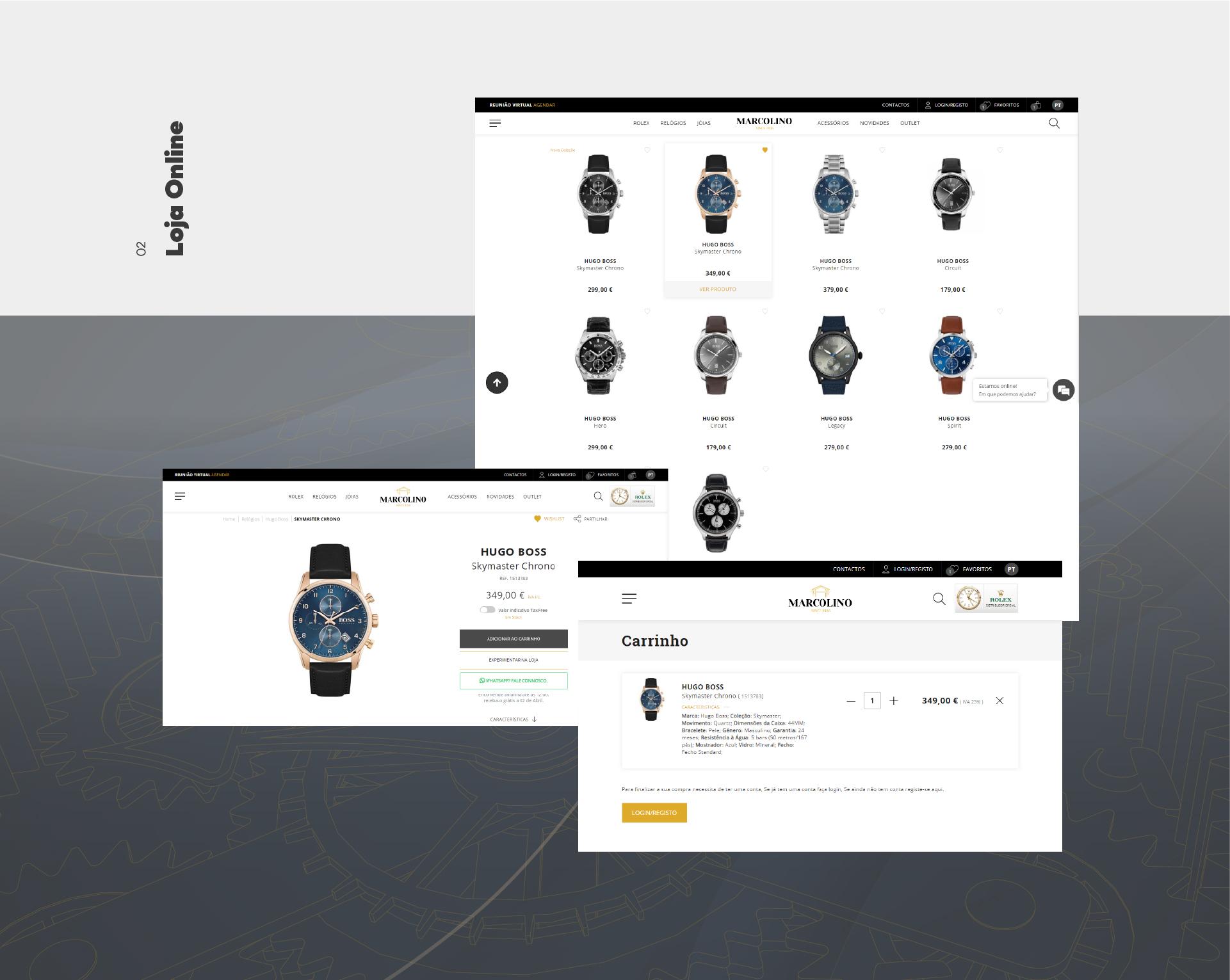Exemplos da Loja Online